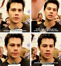 dylan talking about who from teen wolf cast would die/survive in the maze runner