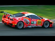 Ferrari 458 Italia GT3. Another great sounding car... matched-rev downshifts are sick here!