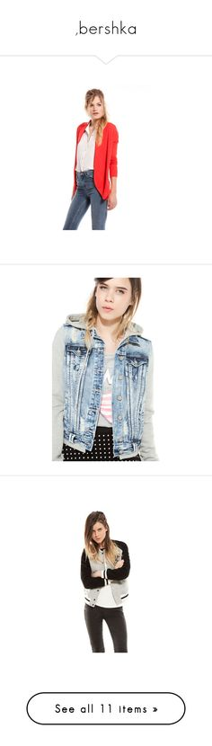 """"""",bershka"""" by ivanna149 ❤ liked on Polyvore featuring bershka, outerwear, jackets, denim jacket, wool jacket, woolen jacket, patch jacket, tops, blouses and sweaters"""