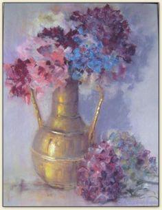 Les Hortensias - pastel - 72x57 cm