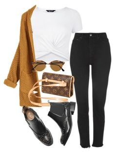 """Fanny Pack Club"" by camilae97 ❤ liked on Polyvore featuring New Look, Topshop and Ray-Ban"