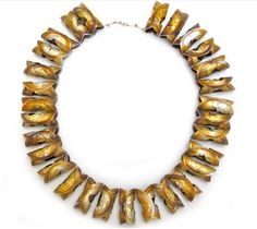 Necklace | Nolia Shakti. Coffee the new gold ? Made from Nespresso capsules and gold