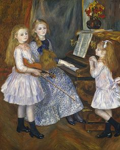 August Renoir: The Daughters of Catulle Mendès, Huguette (1871–1964), Claudine (1876–1937), and Helyonne (1879–1955) (1998.325.3) | Heilbrunn Timeline of Art History | The Metropolitan Museum of Art