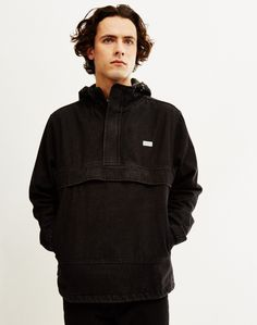 The Hundreds Cruiser Anorak Jacket Black | Shop men's lightweight jackets, coats and clothing at The Idle Man
