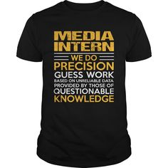 MEDIA INTERN T-Shirts, Hoodies. GET IT ==► https://www.sunfrog.com/LifeStyle/MEDIA-INTERN-117349919-Black-Guys.html?id=41382