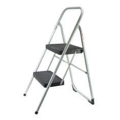 Large Black And Gray 2-step Stool