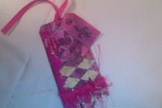 one of my three decorated mixed media bookmarks