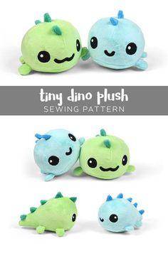 Patrón para coser un tierno peluche de dinosaurio. #dinosaurio #peluche #diy #cute