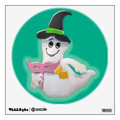 Cute Halloween Ghost Wall Decal  #halloween #favors #essentials #decals #wall #theme #party #decorations #home #zazzle