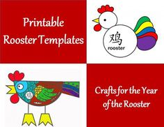 Printable Rooster Templates: Crafts for the Year of the Rooster