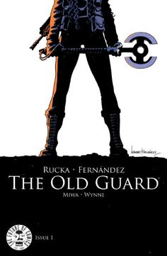 A familiar comic trope with a new insight and fresh perspective keeps this book from feeling recycled and necessary.  All-Comic, All-Comic reivew, Daniela Miwa, Greg Rucka, Image, Image Comics, Jessica Petrecz, Jodi Wynne, LEANDRO FERNANDEZ, review, The Old Guard, The Old Guard #1