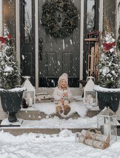 #christmas #decor #christmasdecor #porch #porchdecor #winter #winterphotoshoot #winterphotos #familyphotography #toddler #familychristmas #christmasphotos  #christmasdecoration #snow #snowphotography #christmasideas Christmas Porch, White Christmas, Christmas Decor, Recycled Rubber, Porch Decorating, Timeless Design, Ladder Decor, Winter, Family Photos