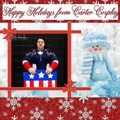Happy Holidays from Carter Cosplay! Peggy Carter, Agent Carter, Holiday Wishes, Upcoming Events, Punk Rock, Happy Holidays, Captain America, Elf, Cosplay