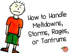 A Peach for the Teach: How to Handle Meltdowns, Storms, Rages, or Tantrums