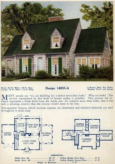 Interesting Find A Career In Architecture Ideas. Admirable Find A Career In Architecture Ideas. Home Design Floor Plans, House Floor Plans, American Home Design, Cottages And Bungalows, Small Cottages, Barndominium Floor Plans, Floor Plan Drawing, Architecture Concept Drawings, Vintage House Plans