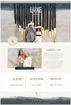 Luxe Events Brand launch - Design + Development by Salted Ink | Custom Wordpress Website Design | www.saltedink.com | Brand Stylist