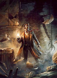 Call of Cthulhu Arte Horror, Horror Art, Fantasy Kunst, Fantasy Art, Steampunk Kunst, Lovecraftian Horror, Pulp, Fantasy Inspiration, Dieselpunk