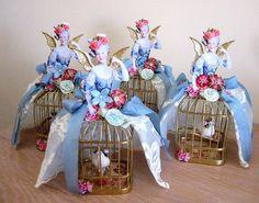 Marie Antoinette birdcage ornaments by Terri Gordon