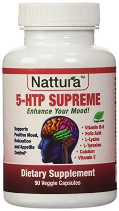 5-HTP SUPREME - For Positive Mood, Relaxation and Appetite Control (with 5-HTP, L-Tyrosine, L-Lysine, Vitamin B6, Folate (Folic Acid), Vitamin C (Ascorbic Acid), Calcium) 90 Capsules by Nattura >>> Click image for more details.