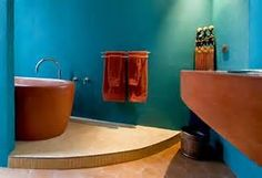 tuquoise kitchen modern terracotta floor - Bing images