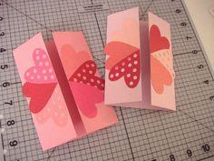 1.ハートの見開きカード | 簡単手作りカード Chocolate Card Factory