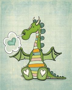 http://www.etsy.com/listing/61324833/puff-of-love-new  Puff the Magic Dragon for a child's room - just adorable!