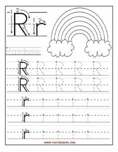 Free Printable letter R tracing worksheets for preschool. Free connect the dots alphabet printable worksheets for kids. Letter R for Rainbow worksheets Writing Practice Worksheets, Alphabet Tracing Worksheets, Printable Preschool Worksheets, Printable Letters, Worksheets For Kids, Abc Tracing, Tracing Letters, Free Kindergarten Worksheets, Printable Coloring