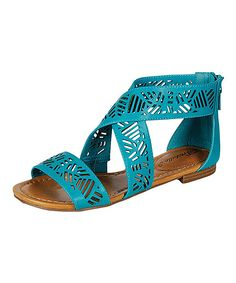 Turquoise Covina Sandal » Great color, fun style! $14.99