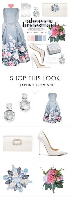 """""""• Always a Bridesmaid •"""" by julijana-k ❤ liked on Polyvore featuring Ippolita, Chi Chi, Roger Vivier, Jimmy Choo, Anne Klein and Rosanna"""