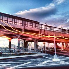 """The """"EL"""".the elevated """"A"""" train in Far Rockaway, NY Far Rockaway, Rockaway Beach, Cozumel, Graceland, Galveston, Urban Design, New York City, Trains, Architecture Design"""