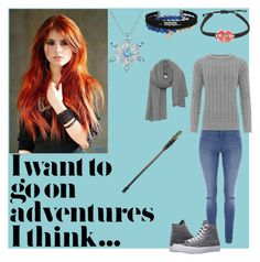 """""""Lumica Young"""" by cinwolff on Polyvore featuring Warner Bros., Jane Norman, WearAll, Converse and American Vintage"""