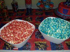 Transformer birthday Colored popcorn