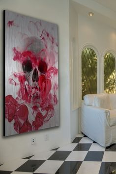 This is great, I love a limited color palette. Skull 2 Aluminum Wall Art by Parvez Taj on @HauteLook