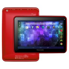 Prestige Elite 8Q 8 QuadCore 16GB KitKat 4.4 Android Tablet, Wifi, 2MP Camera, 1024x600 Touchscreen, Red