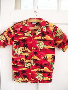 vintage womens hinalea hawaiian shirt sz 14 by RecycleBuyVintage, $35.00