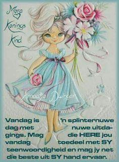 Vintage Greeting Cards, Vintage Postcards, Vintage Images, Lekker Dag, Goeie More, Bible Prayers, Art Clipart, Good Morning Wishes, Beautiful Day