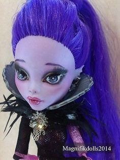 "OOAK Custom Monster High Repaint Doll Lagoona Blue / CAM ""Dark Empress"""
