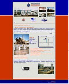 Custom Web Design for Pyramid Concrete