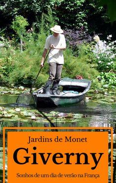 Jardins de Monet em Giverny na França, viagem a partir de Paris, sonhos de um dia de verão.