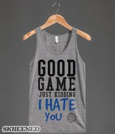 Good game just kidding volleyball tank top tee t shirt