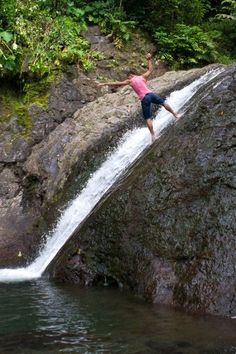 Been there, done that. Sliding Rocks, Samoa