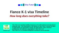 It takes months overall for most people. Here's how to figure out your timeline Fiance Visa, K 1, Marry You, Timeline, Take That, Advice, Education, People, Tips