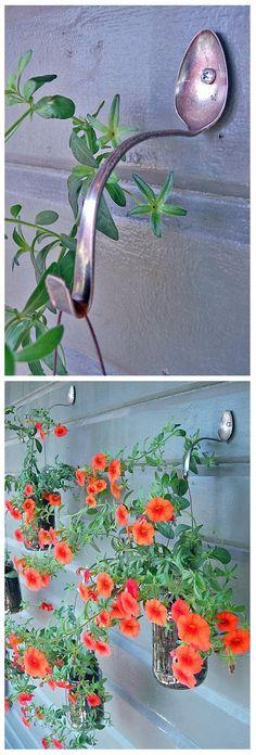 Simple d-i-y planter hangers