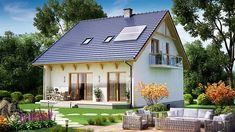 projekt BW-32 wariant 4 JGC1196 Compact House, Gazebo, Outdoor Structures, Cabin, House Styles, Outdoor Decor, Home Decor, Kiosk, Decoration Home