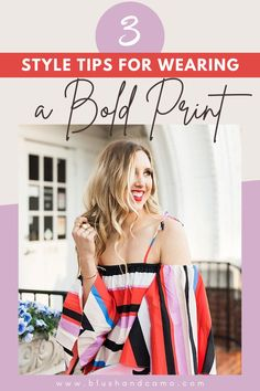 I want to tell you something. You can totally rock a bold print! I know that you like your neutrals (I do too!) but it's time to step outside of your comfort zone! Here are my top 3 tips for wearing a bold print any time of the year! This outfit scared me at first but now I love it! It's perfect for date night or a night out with your girlfriends! #boldprint #fashionista #styletips