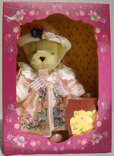 "Muffy Vanderbear Salon du The Couture 7"" Tall With Box No Tea Cup 2001 #MuffyVanderbear"