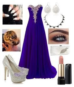 """""""Prom"""" by rxeallycxystal ❤ liked on Polyvore featuring The Limited, House of Harlow 1960 and Lancôme"""