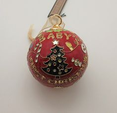 Baby's First Christmas Cloisonne Ornament