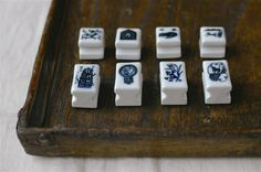 A personal favorite from my Etsy shop https://www.etsy.com/listing/269554688/classiky-porcelain-stamp