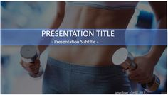 Fitness with barbells PowerPoint